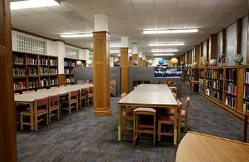 Map and Imagery Library interior