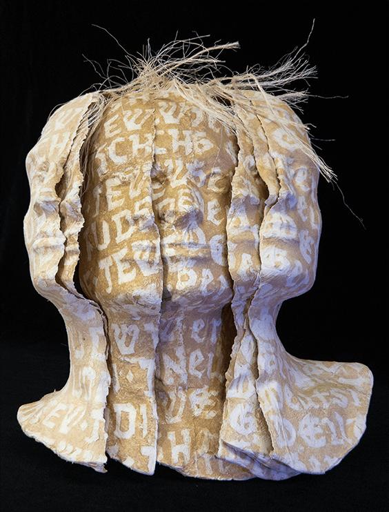 German/Jew sculpture by Karen Baldner, 2003.