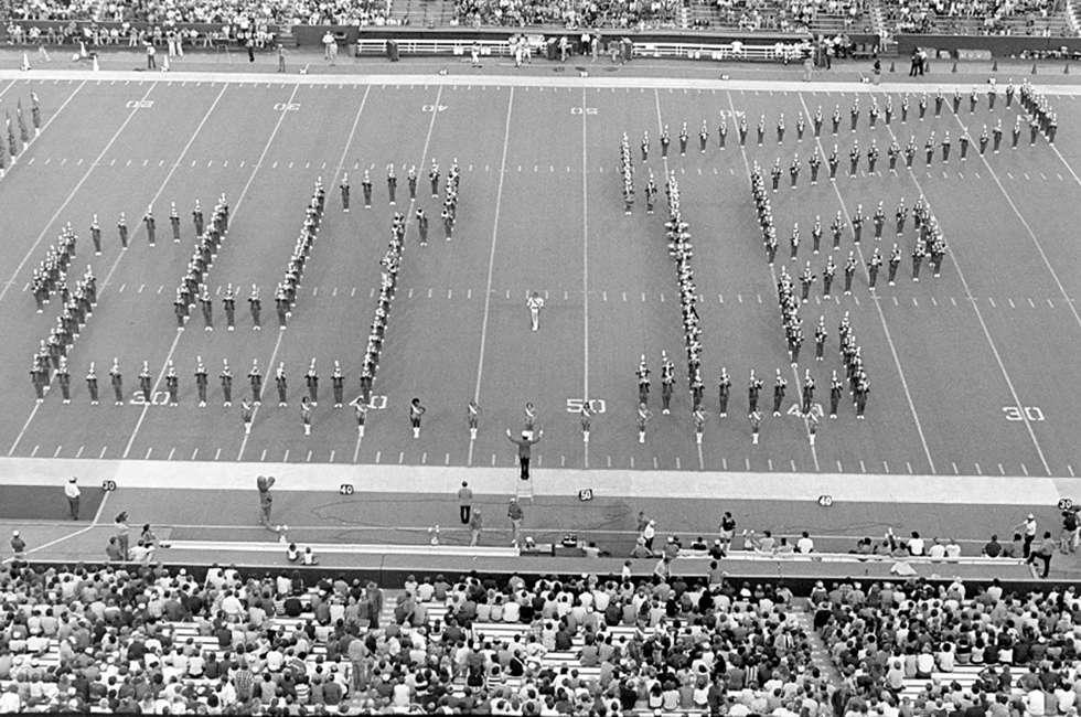 UF band at football game